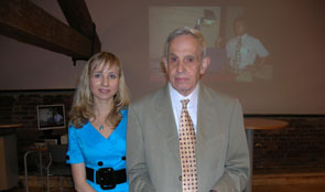 Photo Dr. Mamkina and Dr John Nash